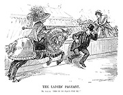 """The Ladies' Pageant. Mr Asquith. """"This is no place for me!"""""""