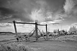 """Wyoming Cloudscape, Grand Teton National Park. Black and White<br /> <br /> For production prints or stock photos click the Purchase Print/License Photo Button in upper Right; for Fine Art """"Custom Prints"""" contact Daryl - 208-709-3250 or dh@greater-yellowstone.com"""