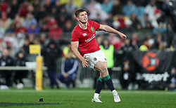 British and Irish Lions Owen Farrell kicks the winning penalty during the second test of the 2017 British and Irish Lions tour at Westpac Stadium, Wellington.