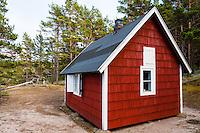 Sweden, Gotska Sandön national park. North side of the island, Tomtebo.