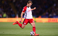 Craig Dawson of West Bromwich Albion in action .Premier league match, Leicester City v West Bromwich Albion at the King Power Stadium in Leicester, Leicestershire on Monday 16th October 2017.<br /> pic by Bradley Collyer, Andrew Orchard sports photography.