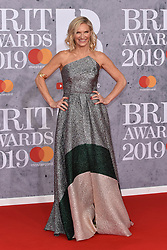 February 20, 2019 - London, United Kingdom of Great Britain and Northern Ireland - Jo Whiley arriving at The BRIT Awards 2019 at The O2 Arena on February 20, 2019 in London, England  (Credit Image: © Famous/Ace Pictures via ZUMA Press)