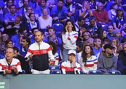 November 23, 2018 - Lille, France - Finale Coupe Davis 2018 - Madame Jo Wilfried Tsonga - France (Credit Image: © Panoramic via ZUMA Press)