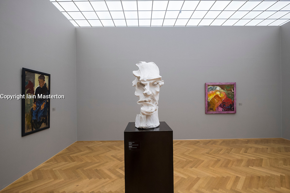 "Sculpture bust by Carl Lohse "" Ludwig Renn"" at Albertinum<br /> art museum in Dresden, Germany"