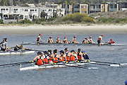 San Diego, California. USA. General Views, Crews boating from the beach. 2013 Crew Classic Regatta, Mission Bay.  11:19:48.  Saturday  06/04/2013   [Mandatory Credit. Peter Spurrier/Intersport Images]  ..