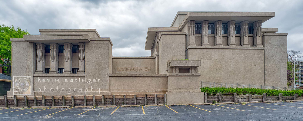 Unity Temple. Oak Park Illinois, exterior. May 11th 2020. Digital photography.