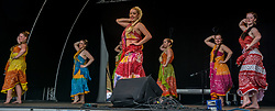 June 23, 2017 - Malmo, Sweden - Midsummer celebration with traditional Swedish dances, but also Bollywood music and dance in Folkets Park, Malmö, a city with a culturally mixed population and 175 languages spoken. (Credit Image: © Tommy Lindholm/Pacific Press via ZUMA Wire)