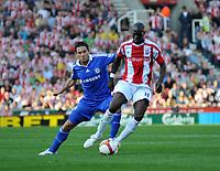 Photo: Tony Oudot/Richard Lane Photography. Stoke City v Chelsea. Barclays Premier League. 27/09/2008. <br /> Mamady Sidibe of Stoke fends off a challenge from Frank Lampard of Chelsea