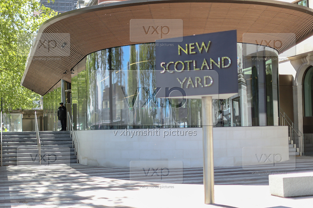 A general view of New Scotland Yard, the headquarters of London's Metropolitan Police Service, in London, on Tuesday, May 5, 2020. (Photo/Vudi Xhymshiti)