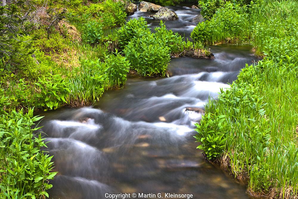 Tyndall Creek near Dream Lake, Rocky Mountain National Park, Colorado.