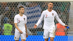 Portugal's Cristiano Ronaldo (right) and Raphael Guerreiro dejected after the game