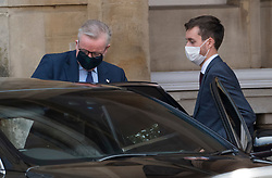 © Licensed to London News Pictures. 10/09/2020. London, UK. Chancellor of the Duchy of Lancaster MICHAEL GOVE (left) is seen leaving Lancaster House in London following a meeting with EU officials including Michel Barnier. British Prime Minister Boris Johnson has threatened to overwrite parts of the EU withdrawal agreement signed with Brussels last October. Photo credit: Ben Cawthra/LNP