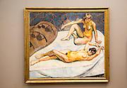 'Resting Models'  1912 oil painting on canvas by Henrik Sorensen 1882-1962, Kode 3 art gallery Bergen, Norway