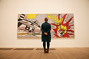 London, UK. Monday 18th February 2013. Lichtenstein: A Retrospective at  Tate Modern brings together 125 of artist Roy Lichtenstein's most definitive paintings and sculptures. Whaam! (1963)