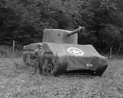 The Ghost Army That Duped The Nazis<br /> <br /> Deception and decoy are part of war strategy. During the Second World War the Allied forces employed dozens of tricks to confuse, mislead or intimidate the German army — from dropping dummy paratroppers to dropping aluminum tinfoil, from faking the death of a fictitious Major William Martin to completely covering up a military aircraft plant. One such deceptive operation that came to light only a few years ago is the so called Ghost Army.<br /> <br /> The Ghost Army was a 1,100-man unit officially known as the 23rd Headquarters Special Troops whose goals were to impersonate vastly large U.S. Army units to deceive the enemy. The men that made up this secretive unit weren't your regular soldiers. They were artists, illustrators and sound technicians handpicked for the job from New York and Philadelphia art schools. They didn't carry M1s and Thompsons, but large inflatable tanks and rubber aircrafts, powerful amplifiers and speakers to mimic the noise created by a large gathering troop and radio equipment to transmit phony messages.<br /> <br /> Photo shows: Dummy Sherman tank used by the Ghost Army<br /> <br /> The Ghost Army of World War II<br /> How One Top-Secret Unit Deceived the Enemy with Inflatable Tanks, Sound Effects, and Other Audacious Fakery<br /> Rick Beyer and Elizabeth Sayles<br /> Published by Princeton Architectural Press<br /> £25.00<br /> ©Exclusivepix Media