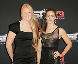 © Licensed to London News Pictures. 15/12/2013, UK. <br /> Polly Swann; Helen Glover, BBC Sports Personality Of The Year, Leeds Arena, Yorkshire UK, 15 December 2013. Photo credit : Richard Goldschmidt/Piqtured/LNP