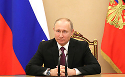 May 10, 2017 - Moscow, Russia - May 10, 2017. - Russia, Moscow. - Russian President Vladimir Putin at a meeting with permanent Security Council members. (Credit Image: © Russian Look via ZUMA Wire)