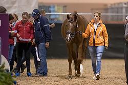 Witte-Vrees Madeleine, NED, Cennin<br /> Training session<br /> FEI World Cup Dressage Final, Omaha 2017 <br /> © Hippo Foto - Jon Stroud<br /> 29/03/2017