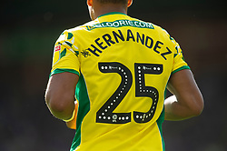 Onel Hernandez during the Sky Bet Championship match at Carrow Road, Norwich.