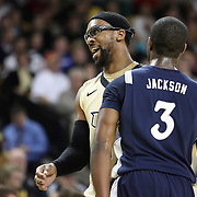 Central Florida guard Marcus Jordan (5) argues a foul call during the first half of  a Conference USA NCAA basketball game between the Rice Owls and the Central Florida Knights at the UCF Arena on January 22, 2011 in Orlando, Florida. Rice won the game 57-50 and extended the Knights losing streak to 4 games.  (AP Photo/Alex Menendez)