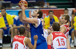 Nenad Krstic of Serbia during the EuroBasket 2009 Quaterfinals match between Russia and Serbia, on September 17, 2009 in Arena Spodek, Katowice, Poland.  (Photo by Vid Ponikvar / Sportida)