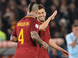 November 18, 2017 - Rome, Italy - Stephan El Shaarawy during the Italian Serie A football match between A.S. Roma and S.S. Lazio at the Olympic Stadium in Rome, on november 18, 2017. (Credit Image: © Silvia Lore/NurPhoto via ZUMA Press)