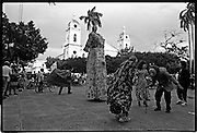 Traditional dancers perform in the main plaza.