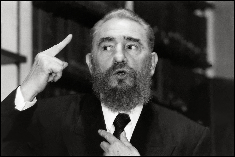 Fidel Castro attends a meeting in New York City in October of 1995.