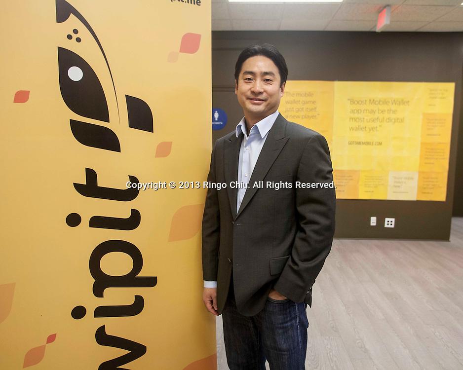 Richard Kang, CEO of Wipit, a company that provides prepaid financial services through mobile phones. (Photo by Ringo Chiu/PHOTOFORMULA.com)