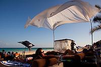 Emily Wong (415-601-7555) of San Francisco enjoys the beach in Playa del Carmen, Mexico. (Photo by Robert Caplin)