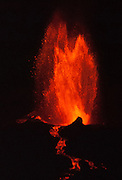 April 21, 2009: La Cumbre volcano erupts lava into the Pacific Ocean, expanding Fernandina (Narborough) Island, in the Galápagos Islands, a province of Ecuador, South America. This eruption cycle started April 10, 2009 after 5 years of quiet. Fernandina Island was named in honor of King Ferdinand II of Aragon, who sponsored the voyage of Columbus. Fernandina is the youngest and westernmost island of the Galápagos archipelago, and has a maximum altitude of 1,494 metres (4,902 feet). Tourists are allowed to visit Punta Espinosa, a narrow stretch of land where hundreds of Marine Iguanas gather largely on black lava rocks. The Flightless Cormorant, Galápagos Penguins, Pelicans and Sea Lions are abundant on this island of lava flows and Mangrove Forests. The volcanic Galápagos Islands (officially Archipiélago de Colón, otherwise called Islas de Colón, Islas Galápagos, or Enchanted Islands) are distributed along the equator in the Pacific Ocean 972 km west of continental Ecuador, South America.