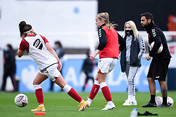 Flo Allen of Bristol City Women warms up prior to kick off - Mandatory by-line: Ryan Hiscott/JMP - 18/10/2020 - FOOTBALL - Twerton Park - Bath, England - Bristol City Women v Birmingham City Women - Barclays FA Women's Super League