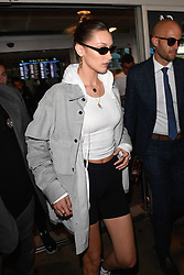 Bella Hadid arriving at Nice Airport ahead of Cannes Film Festival in Nice, France on May 15, 2019. Photo by Julien Reynaud/APS-Medias/ABACAPRESS.COM