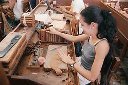 Cigar makers in the Partagas cigar factory in Havana; Cuba,