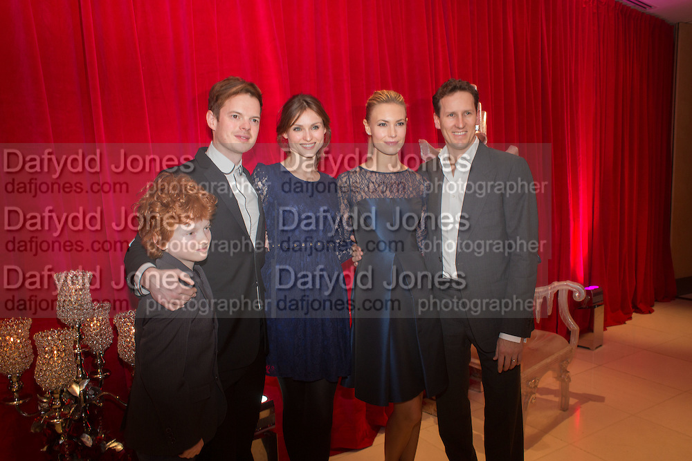RICHARD JONES; SOPHIE ELLIS BEXTOR; BRENDAN COLE; ZOE HOBBS, Pre -drinks at the St. Martin's Lane Hotel before a performance of the English National Ballet's Nutcracker: London Coliseum.12 December 2013