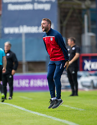 Dundee's manager McPake Half time : Dundee 0 v 0 Ayr United, Scottish Championship game played 10/8/2019.