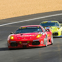 #97 Ferrari F430 GTC, Risi Competizione (USA), drivers:  Jaime Melo, Johnny Mowlem, Mika Salo, #99 Ferrari F439 GTC, drivers: Tracy Krohn, Niclas Jönsson, Colin Braun, at the 24-Hours of Le Mans 2007