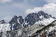 Vasiliki Ridge in the North Cascades of Washington State, USA.  Photographed from Washingon Pass along Highway 20.