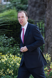 Downing Street, London, May 17th 2016. Paymaster General Matt Hancock arrives at the weekly cabinet meeting in Downing Street.