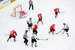 Players during ice hockey game between Team Jesenice and HDD Telemach Olimpija in 1st leg of Finals of Slovenian National Championship 2014, on March 31, 2014 in Arena Podmezakla, Jesenice, Slovenia. Photo by Vid Ponikvar / Sportida