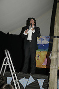 Lawrence Llewellen-Bowen, The Cornish Birthday party to Celebrate John Betjeman's Centenary. Carruan Farm. Polzeath. Conrwall. In aid of the new Padstow Lifeboat Station. 28 August 2006. ONE TIME USE ONLY - DO NOT ARCHIVE  © Copyright Photograph by Dafydd Jones 66 Stockwell Park Rd. London SW9 0DA Tel 020 7733 0108 www.dafjones.com