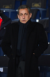 Former President Nicolas Sarkozy watching the UEFA Champions League Round of 16 Second Leg Paris Saint-Germain (PSG) v Real Madrid match at Parc des Princes stadium on March 6, 2018 in Paris, France. Photo by Christian Liewig/ABACAPRESS.COM
