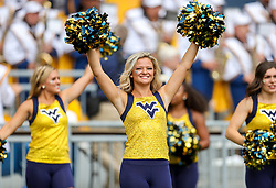 Sep 14, 2019; Morgantown, WV, USA; A West Virginia Mountaineers dancer performs during the second quarter against the North Carolina State Wolfpack at Mountaineer Field at Milan Puskar Stadium. Mandatory Credit: Ben Queen-USA TODAY Sports