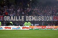 Fotball<br /> Frankrike 2004/05<br /> Lens v Paris Saint Germain<br /> 22. september 2004<br /> Foto: Digitalsport<br /> NORWAY ONLY<br /> PROTESTS PSG FANS IN BOLLAERT STADIUM