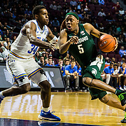 Nov 22  2018 Las Vegas, NV  U.S.A.  Michigan State guard Cassius Winston (5) drive to the hoop during the NCAA Men's Basketball Continental Tire Las Vegas Invitational between UCLA Bruins and the Michigan State Spartans 87-67 win at The Orleans Arena Las Vegas, NV. Thurman James / CSM
