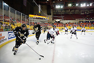 October 13, 2007 - Anchorage, Alaska:  Derek Punches (11) of the Wayne State Warriors tries to get the offense going during the 1-4 loss to Robert Morris in the 3rd game of the Nye Frontier Classic at the Sullivan Arena.  RMU would go on to be the Classic Champions after host Alaska-Anchorage tied with Boston University in the 4th game of the Classic.