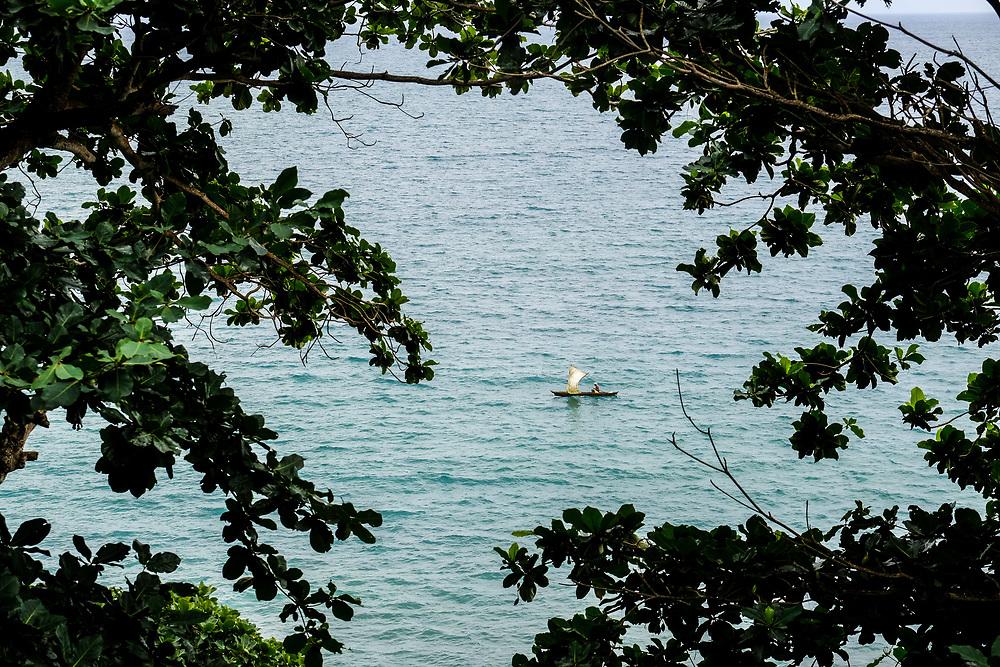 A fishermen boat in the east coast of São Tomé island