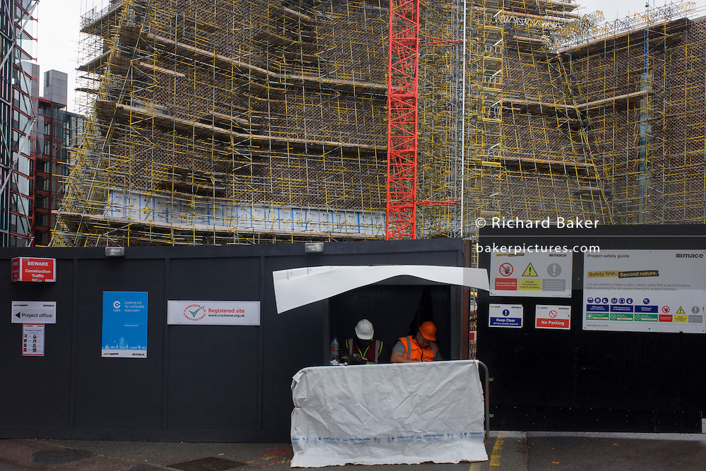 New extension construction at the Tate Modern art gallery on London's Southbank.