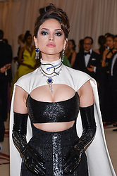 Eiza Gonzalez walking the red carpet at The Metropolitan Museum of Art Costume Institute Benefit celebrating the opening of Heavenly Bodies : Fashion and the Catholic Imagination held at The Metropolitan Museum of Art  in New York, NY, on May 7, 2018. (Photo by Anthony Behar/Sipa USA)