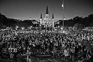 Thousands gather at a rally outside of Jackson Square in New Orleans on June 5, 2020, on the seventh day of protests over the police killing of George Floyd in Minneapolis on May 25. The protests were spearheaded by the New Orleans Workers Group and Take 'Em Down NOLA . They city locked the park after the protesters made it clear they want the sculpture of Andew Jackson in the middle of the park taken down.